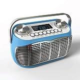 Radio Vintage FM – Poste Radio Transistor Portable avec Reveil, Grand écran LCD, Prise Casque, Radio Retro