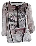 BIBA - Blusa para mujer, túnica, color rosa oscuro, con cor
