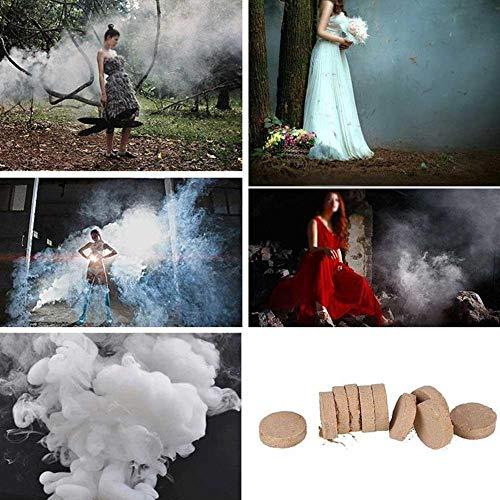 Christy Harrell Lot de 50 pastilles fumigènes effet fumée blanche pour photographie et scène