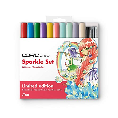 Copic Ciao Markers Limited Edition Sparkle Set of 12, Assorted (SPARKLELTD)