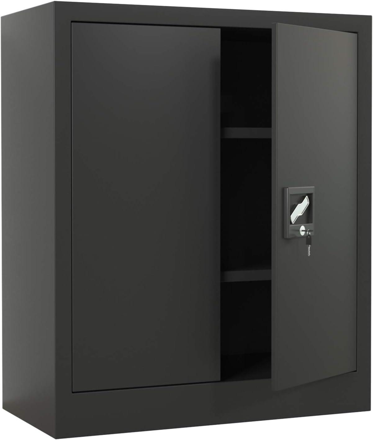iJINGUR Large Latest item discharge sale Metal Storage Cabinet with Height Locking Doors 2 Adju