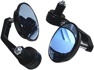 KKmoon Par de Espejos Retrovisor para Manillar 22mm Universal de Moto Material de Aluminio Diseño Redonda Forma