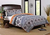 Greenland Home Medina Quilt Set, 3-Piece King/Cal King, Saffron