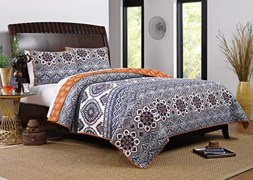 Barefoot Bungalow Medina Quilt Set, 3-Piece King/Cal King, Saffron,GL-1510JMSK