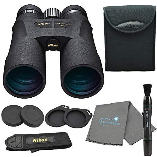 Nikon 7573 PROSTAFF 5 12X50mm Binoculars Bundle with Nikon Lens Pen and Lumintrail Cleaning Cloth