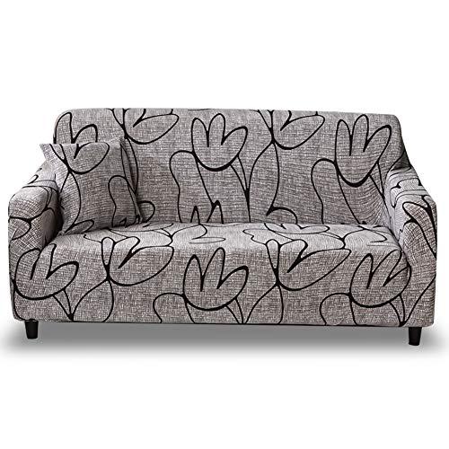 HOTNIU Funda Elástica de Sofá Funda Estampada para sofá Antideslizante Protector Cubierta de Muebles (Tres Plazas, Modelo_SL)