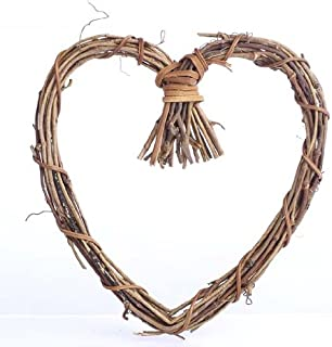 Factory Direct Craft Natural Twig Grapevine Heart Shaped Wreaths for Your Decorating and Craft Projects- Package of 6