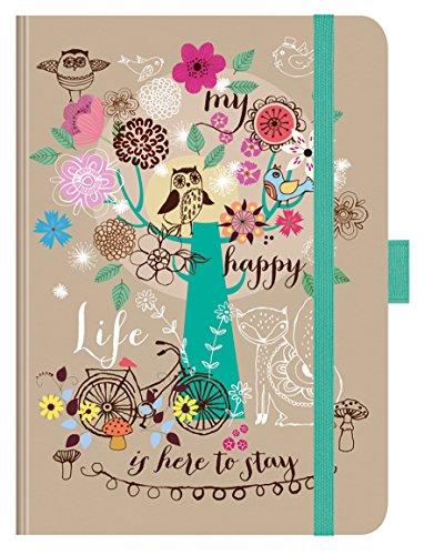 PT Big My happy life 271219 2019: Hochwertiger Buchkalender. Terminplaner mit Wochenkalendarium, Gummiband und Stifthalter. 12 x 17 cm