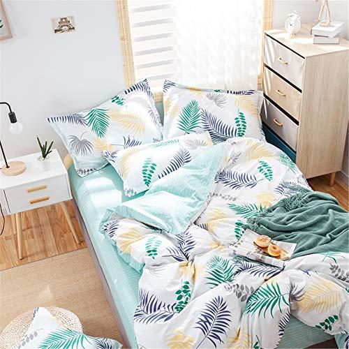 YYSZM Textiles para El Hogar Ropa De Cama con Estampado Floral Algodón Suave Y Cómodo Juego De Microfibra De 4 Piezas Agradable para La Piel 180x220cm