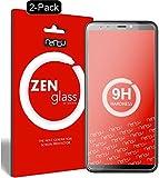 ZenGlass [2 Stück Flexible Glas-Folie kompatibel mit HTC Desire 12 Plus Panzerfolie I Bildschirm-Schutzfolie 9H I (Kleiner Als Das Gewölbte Bildschirm)