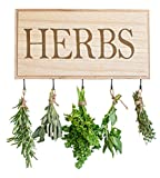 NORD EAGLE Wooden Herb Dryer 16 x 8 Decorative Wall Plaque Dry Flowers...