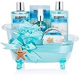 BRUBAKER Cosmetics Juego de baño y ducha Sueños de verano - Juego de regalo de 7 piezas en una bañera decorativa
