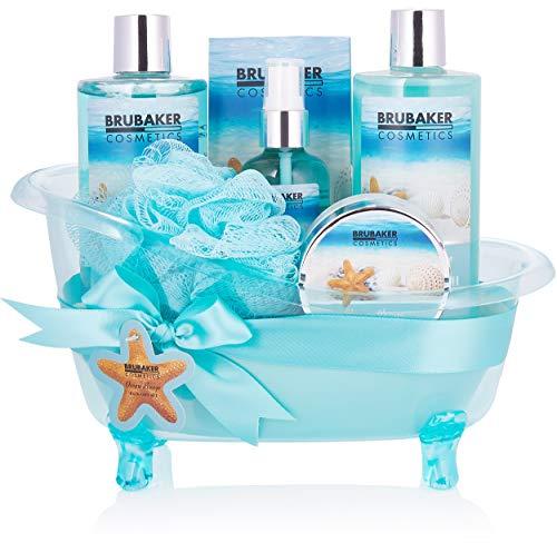 BRUBAKER Cosmetics Bade- und Dusch Set Summer Dreams - 7-teiliges Geschenkset in dekorativer Wanne