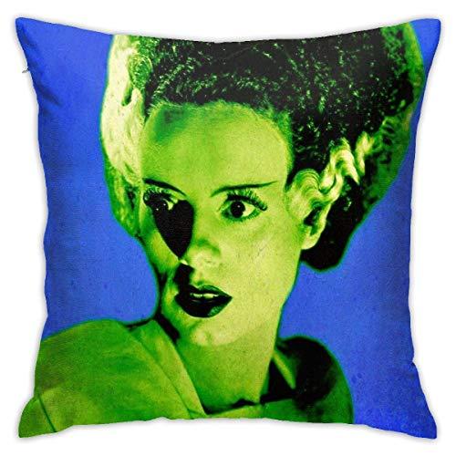 pingshang Blaue und grüne Braut von Frankenstein Pop Art Home Dekorative Kissenbezüge für Sofa Couch Kissen Kissenbezüge 18x18 Zoll
