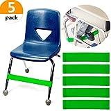 Set mit 5 JeVenis Naturlatex-Stretch-Fußgurten Bouncy Chair Zappelband-Workout Autismus-Sensorik braucht Stretch-Fußband für Stühle von Rehab oder Physiotherapie