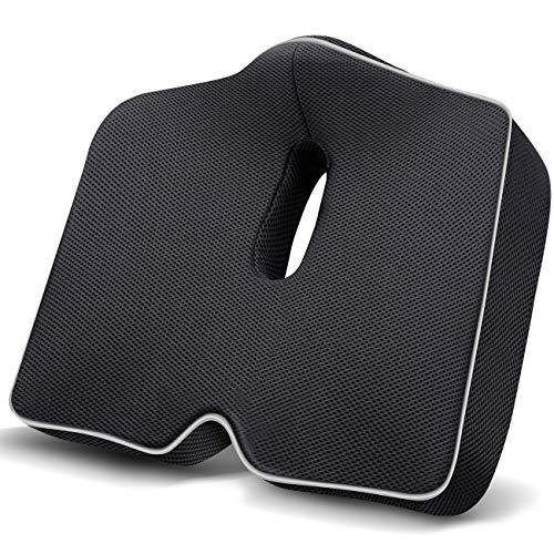 KUVOCA Orthopädisches Sitzkissen Ergonomisches Sitzkissen Memory Foam Stuhlkissen zur Steißbein-Entlastung für Bürostuhl, Auto, Sofa, Rollstuhl, Wirkt Schmerzreduzierend, Erhöht Sitzkomfort