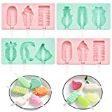 FOOD GRADE SILICONE: The BPA free popsicle molds are made of high quality Food Grade Silicone, soft and durable. And it has a nonstick surface which is easy release and clean up. MULTIFUNCTIONAL: You can use the ice pop molds to make any type popsicl...