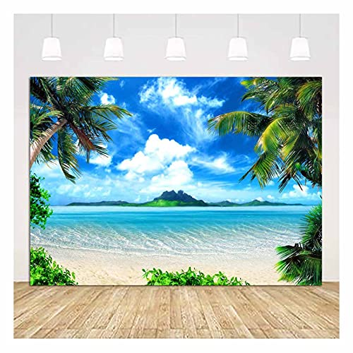 Vinyl 9X6FT Beach Photography Backdrops Ocean Photo Booth Wedding Party Decoration Supplies Background Studio Props