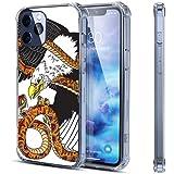 Mighty Eagle - Coque transparente pour iPhone 12 Pro - Motif aigle - Compatible avec 12 Pro -...