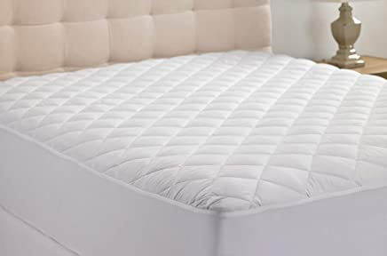 Hanna Kay Hypoallergenic Quilted Stretch-to-Fit Mattress Pad, 10 Year Warranty-