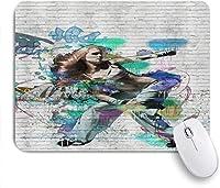 マウスパッド ヒップホップガールグラフィティ 高級感 おしゃれ 防水 端ステッチ 耐久性が良い 滑らかな表面 滑り止めゴム底 24cmx20cm