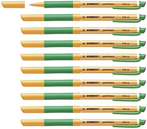 Tintenroller - STABILO pointVisco - 10er Pack - grün