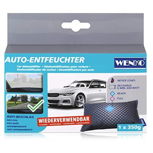 WENKO Auto-Entfeuchter 350 g - Luftentfeuchter, Silicagel, 11.5 x 3 x 19 cm, Weiß