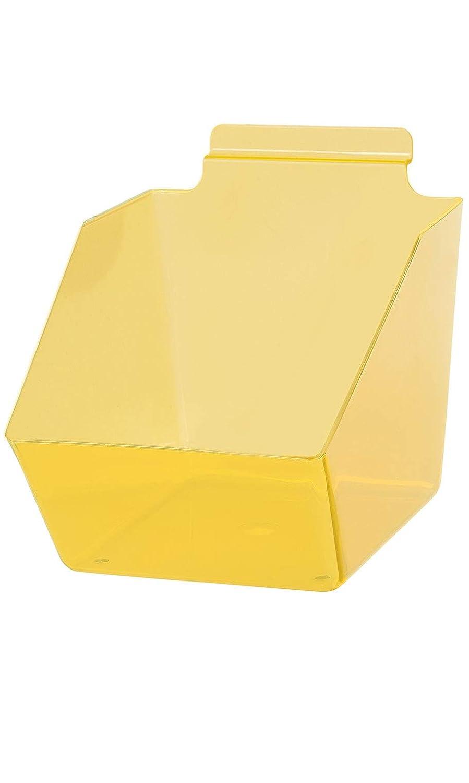 "Clear Yellow Plastic Dump Tulsa Mall Bin for - Slatwall ½â6"" 5 Deluxe X"
