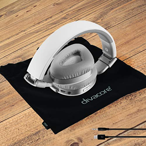 Divacore Addict, Casque sans Fil 30H aptX HD NFC, Blanc/Argent
