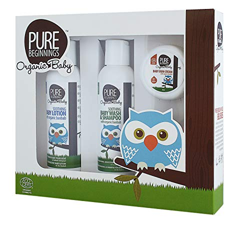 Pure Beginnings - Baby Geschenk Set - zertifizierte Bio Babypflege (3-teilig)