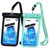Mpow Universal Waterproof Case, 2 Pack Waterproof Cellphone Case IPX8 Clear Phone Dry