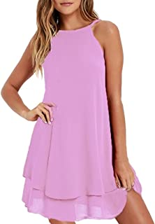 83d46ab083d Ms. Summer Sexy Pure Color Sling Dress