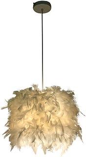 Gaocunh Candelabro de Plumas, lámpara de Techo, Estilo nórdico, lámpara Decorativa Simple para Sala de Estar, Dormitorio, Hotel.