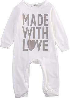 Newborn Infant Baby Girls Boys Heart Love Long Sleeve Bodysuit Romper
