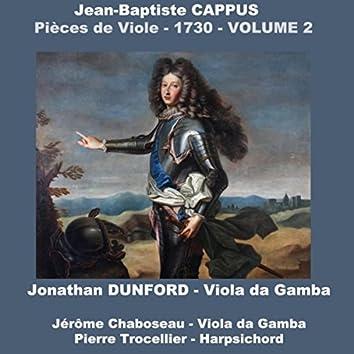 Jean-Baptiste Cappus: Pièces de Viole - 1730, Vol. 2