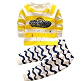 Hengsong Clouds Impression Garçons Filles Coton Pyjama Bébé Four Seasons sous-vêtements Ensembles Enfants (110cm)