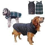 Petilleur Abrigo Perro Invierno Chaqueta Ropa para Perros Pequeños Medianos y Grandes, Doble Cara Vestir (S, Verde)