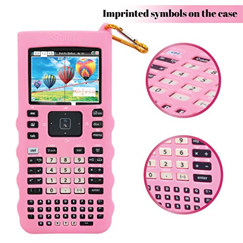 Sully Silicone Skin for Ti Nspire CX/CX CAS Handheld (Pink) w/Screen Protector - Silicon Cover Case for Ti-Nspire CX Hand held Graphing Calculator - Protective & Anti-Scretch Skins & Screen Covers Photo #8