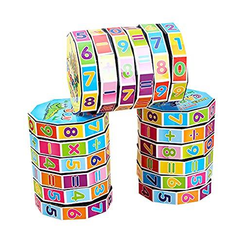 Isuper Matematica Puzzle Cubi matematici per Lo Sviluppo dell'intelligenza Istruzione per l'apprendimento dei Bambini Matematica Staccabile Intelligenza Digitale Aritmetica Giocattoli matematici (1p