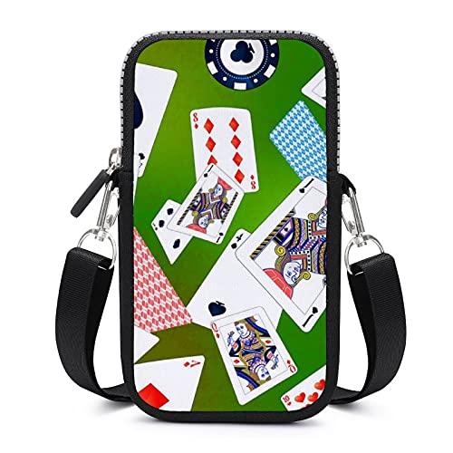 Bolso bandolera para teléfono móvil con correa de hombro extraíble, bolsa a prueba de sudor, para llaves, pulsera de gimnasio, fitness, unisex