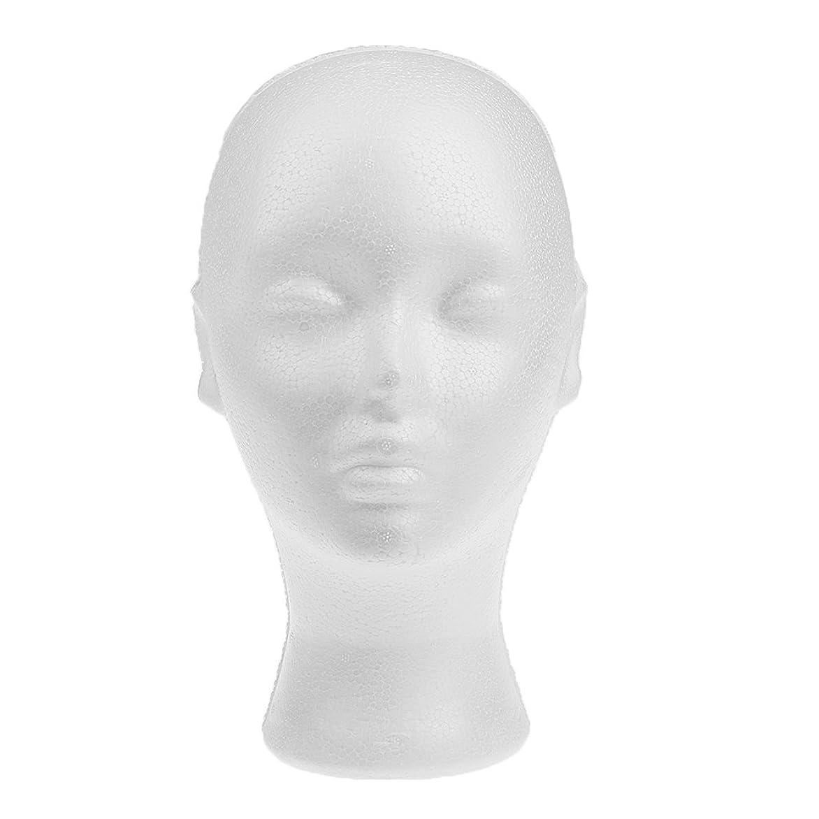 請負業者花輪罹患率発泡スチロールモデルヘッド 女性 展示 軽量 白い 高品質フォーム 帽子/ジュエリー/ガラス