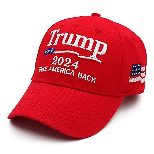Bestmaple Donald Trump 2024 Gorra Take America Back El Snapback Presidente USA Gorras De Béisbol, Rojo, S/4XL