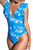 CUPSHE Women's One Piece Swimsuit V Neck Ruched...