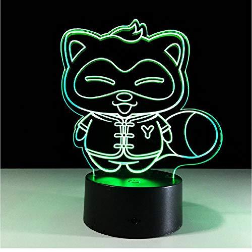 Wasbär 3D-lamp usb LED nachtlicht beweging licht Power Bank 3D verlichting voor onder keukenkasten LED sensor licht remote telefoon Bluetooth control kleur