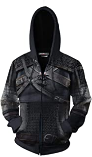 3D Printing The Witcher3 Hoodie Sweatshirt Adult Zipper Jacket Cosplay Costume Unisexw DB005