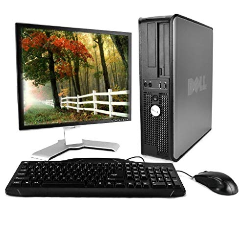 Optiplex 780 Premium Desktop Computer Package (Intel Dual-Core 2.93GHz, 4GB RAM, 250GB HDD, WiFi, Windows 10 Professional, 17in LCD Monitor) (Renewed) -  Dell