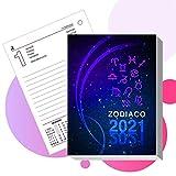 LogicaShop ® Ricambio Calendario da Tavolo Perpetuo Anno 2021 - Blocco 320 Pagine - Dim. 8,5x11x6 cm - mod. Zodiaco Art.198 - Almanacco Agenda Organizer Planning Universale