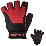 Contraband Black Label 5120 Pro Series Amara Leather Lifting Gloves w/Jar Grip Palm- Durable Light - Medium Padded Amara Leather Gym Gloves - Perfect Classic Lifting Gloves (Pair) (Red, XX-Large)