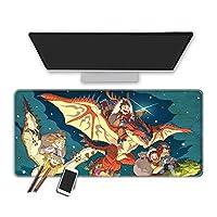 マウスパッド モンスターハンター 90x40cm マウスパッドゲーミングマウスマットカラフルゲーミングラージマウスパッド 100x50cm