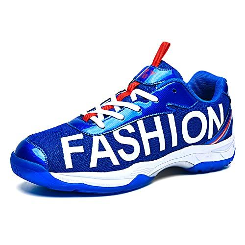 Ksmhmm] Men's Badminton Shoes Sports & Outdoor Running Shoe/Basketball Shoe/Volleyball Shoe/Baseball Shoe Men Tennis & Racquet Sport Shoes Blue 5.5